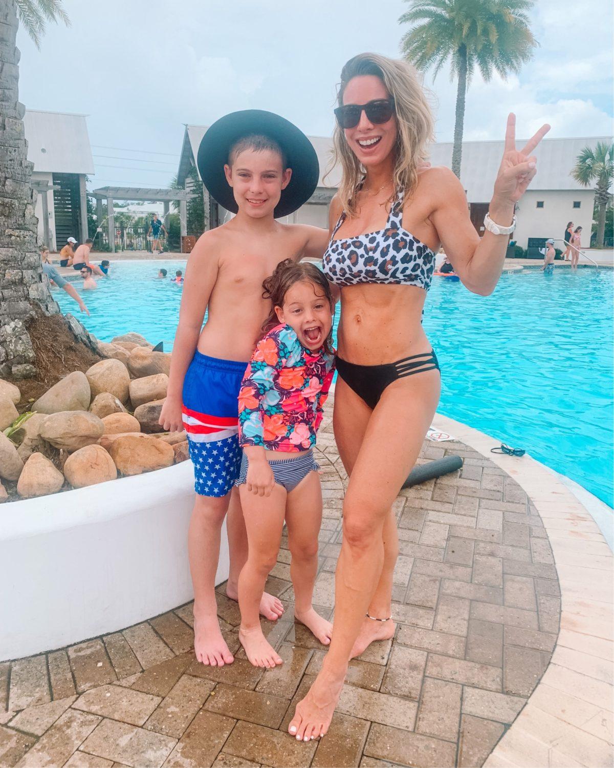 Leopar Swimsuit, Sun Hat