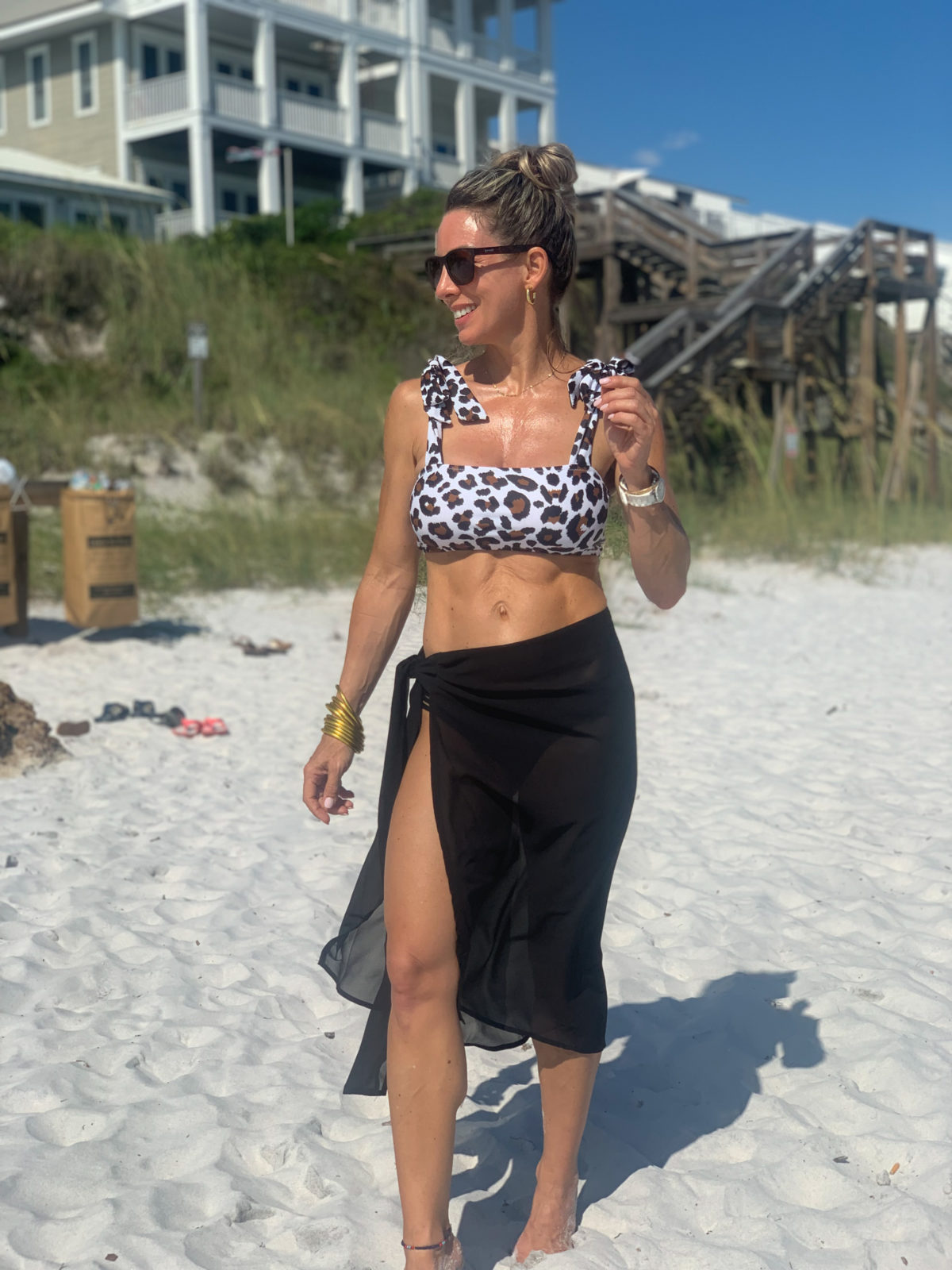 Leopard Swimsuit and Sarong