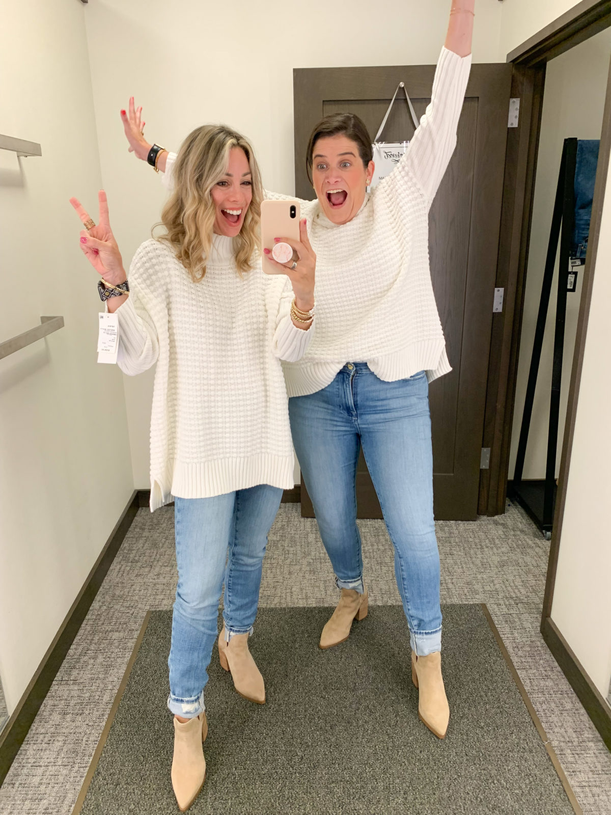 Nordstrom Sale, Sweater and Jeans with Booties
