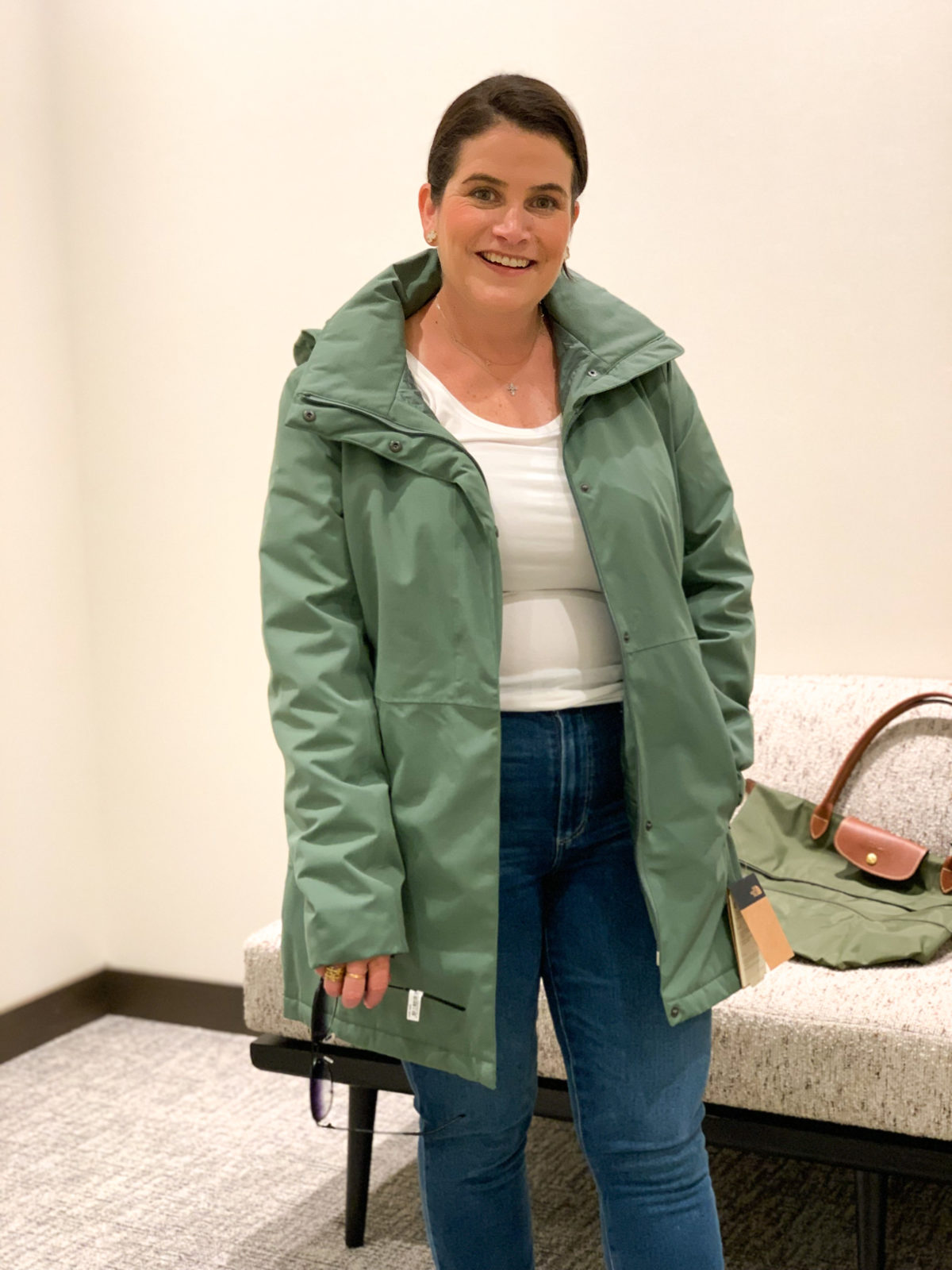 Nordstrom Anniversary Sale, North Face Rain Jacket, Jeans, Sneakers