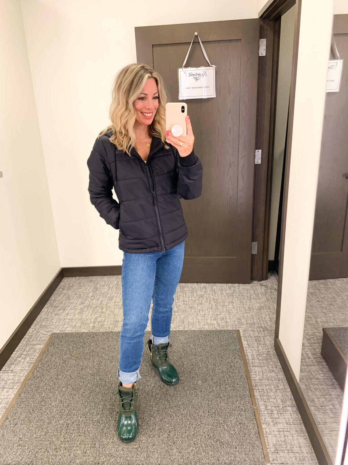 Nordstrom Anniversary Sale, Jacket, Jeans, Sperry Rain Boots