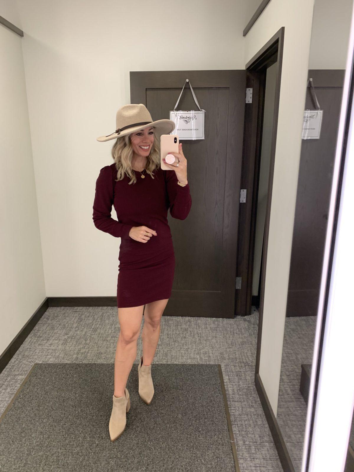 Nordstrom Anniversary Sale, Dress, Booties, Hat