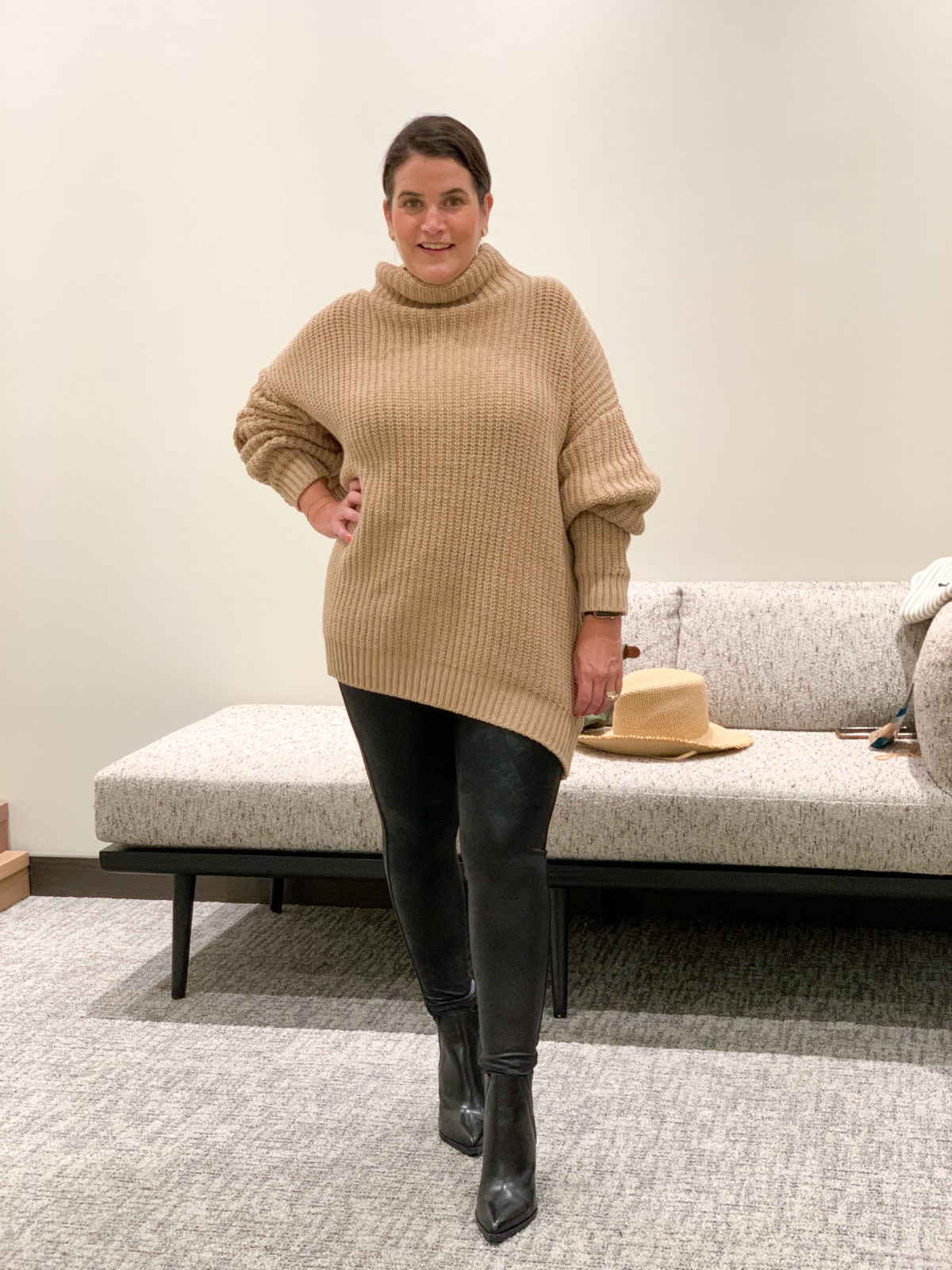 Nordstrom Anniversary Sale, Sweater, and leggings with Booties
