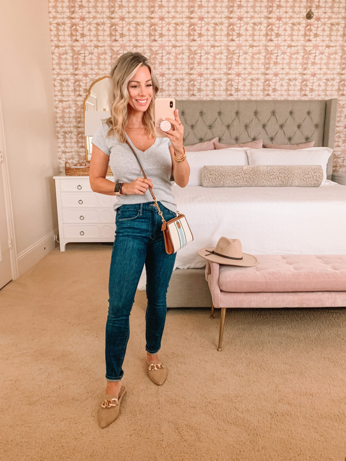 Nordstrom Anniversary Sale, Tee, Jeans, Mules, Crossbody, Jeans, Hat