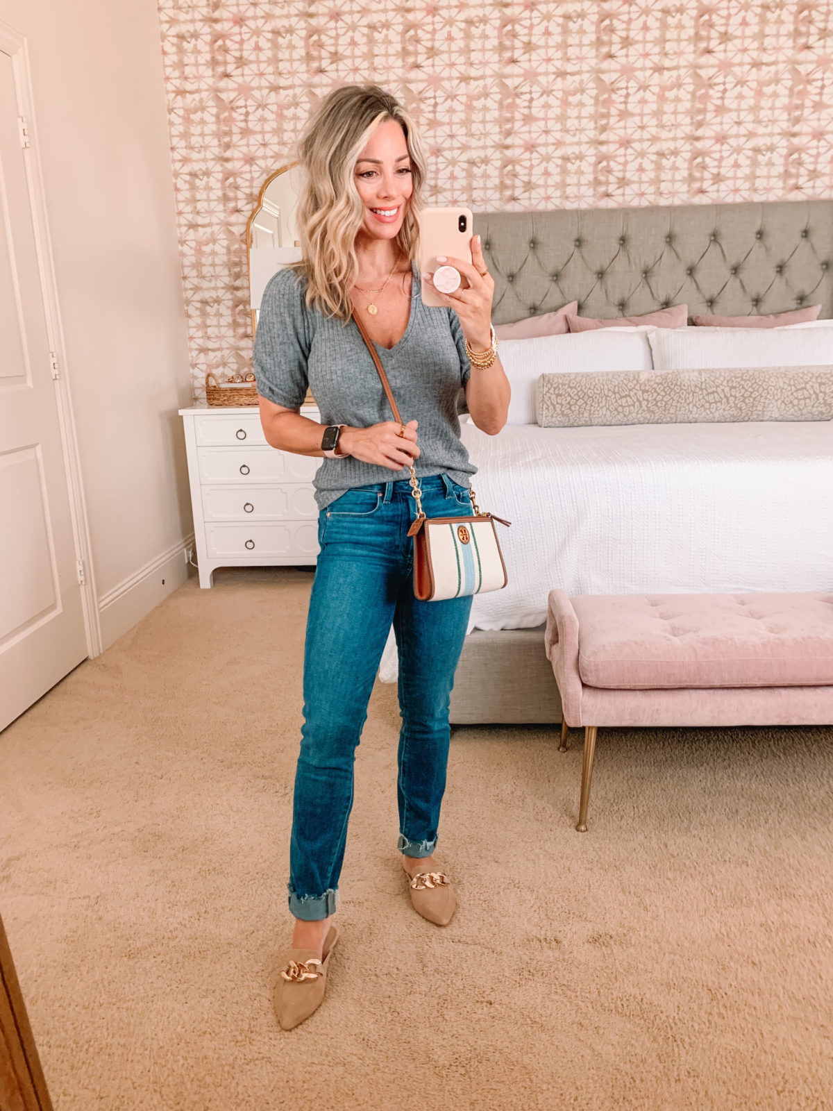 Nordstrom Anniversary Sale, Top, Jeans, Mules, Crossbody