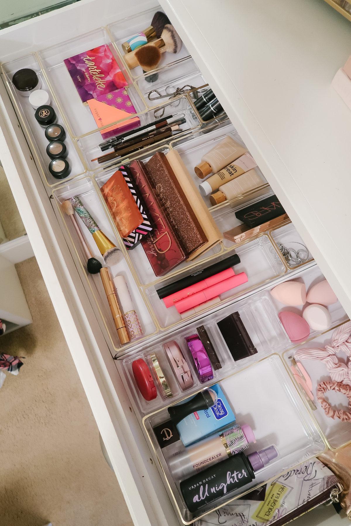 Organized Master Closet - makeup drawer