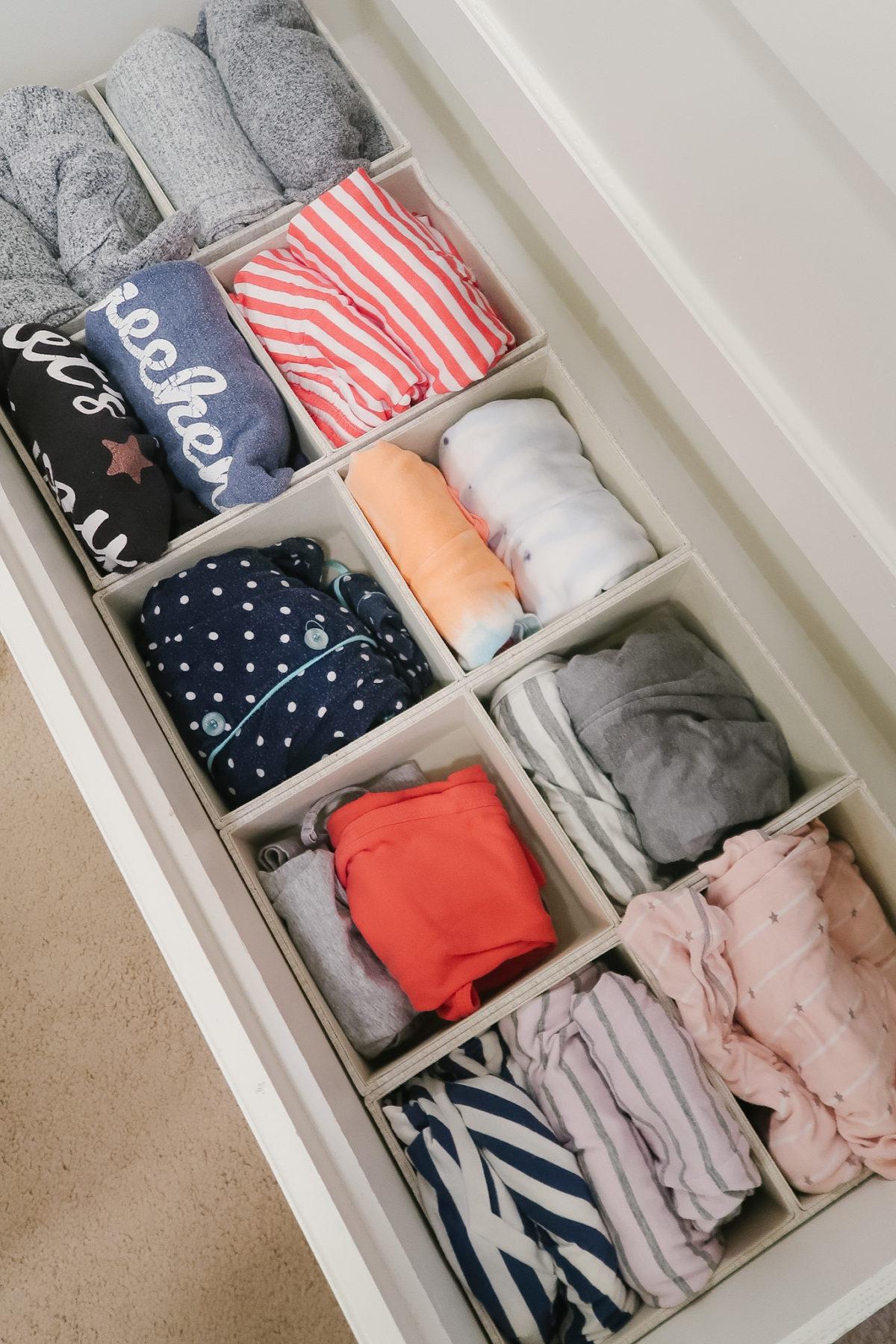 Organized Master Closet - pajama drawer