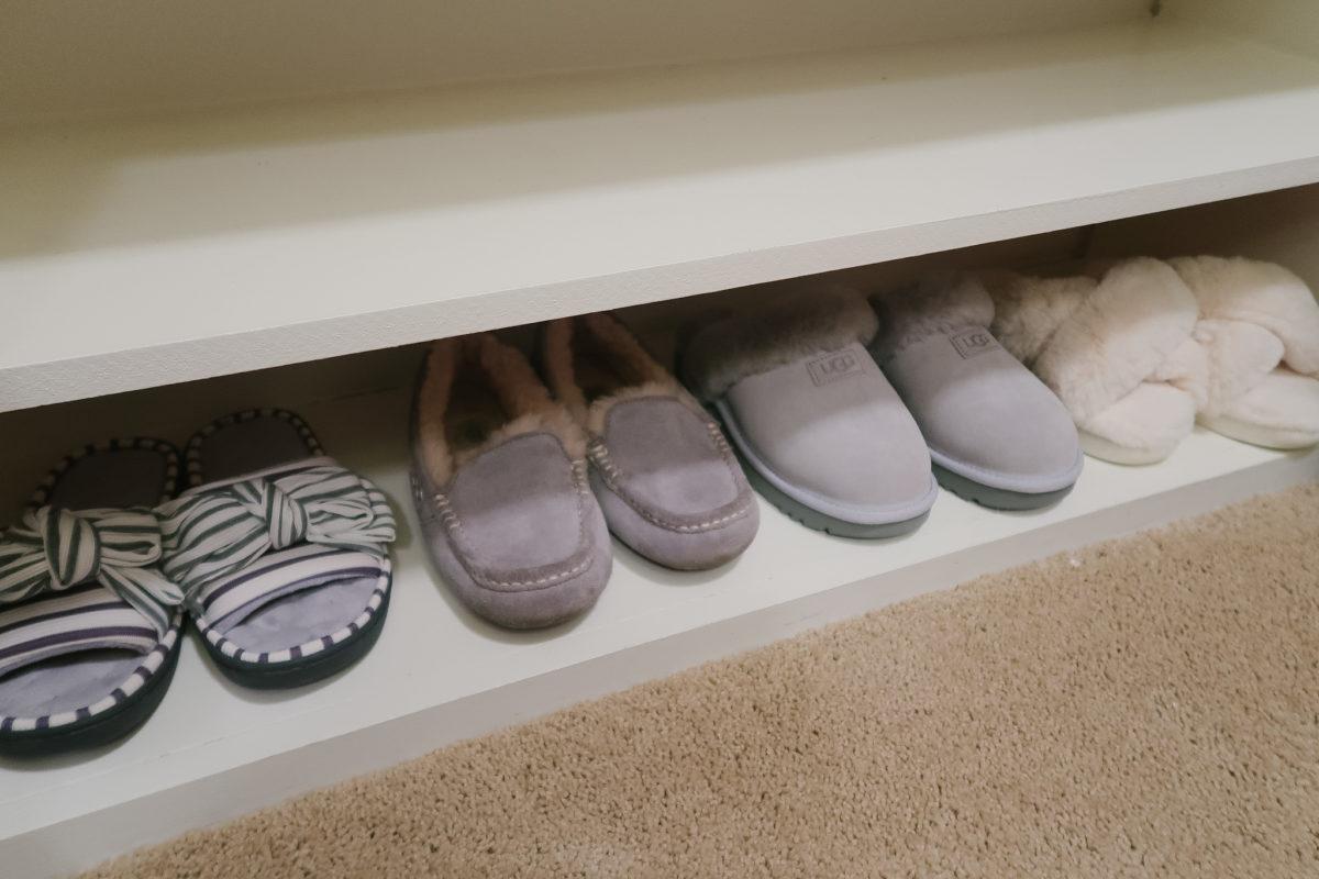 Master Closet Organization - shoes