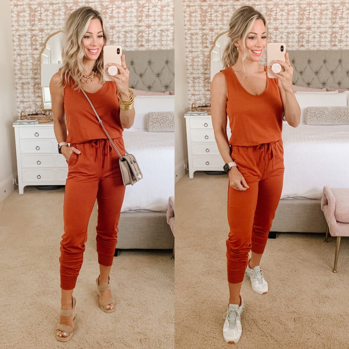 Amazon Fashion, Jumpsuit, Wedges, Sneakers, Crossbody