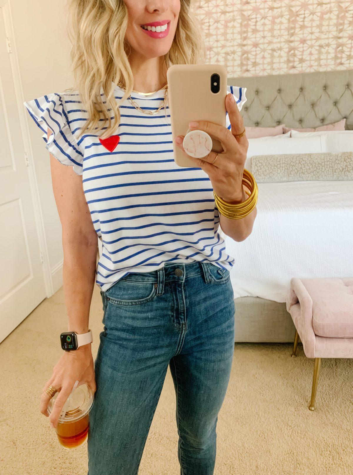 Amazon fashion - women striped top