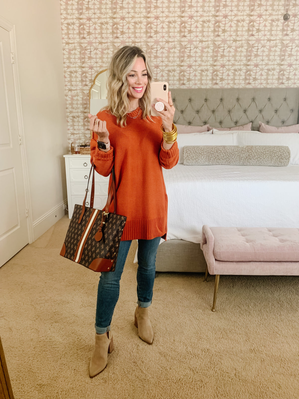 Amazon Fashion Finds, Tunic Sweater, Jeans, Booties, Crossbody