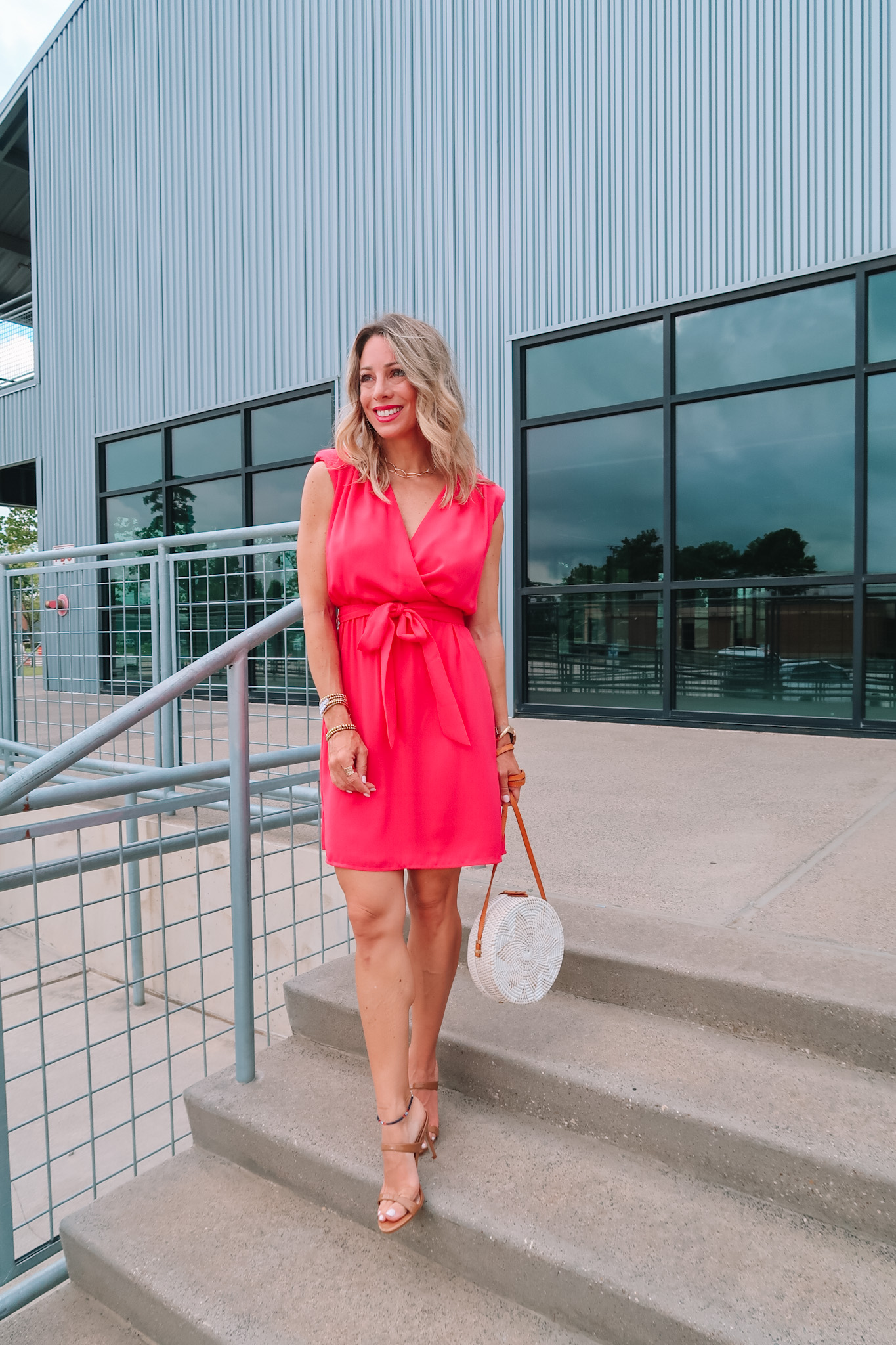 Outfits Lately, Dress, Sandals, Woven Crossbody