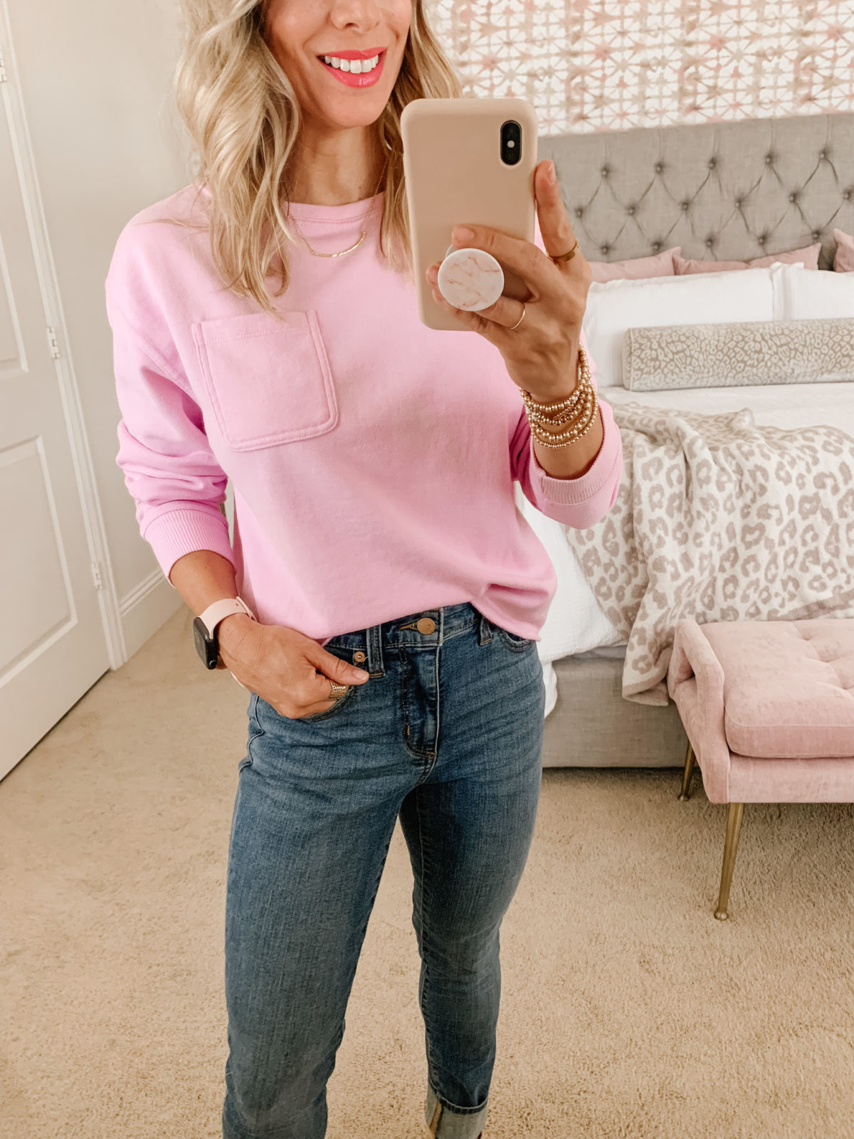 Target Fashion Finds, Sweatshirt, Jeans, Wedges