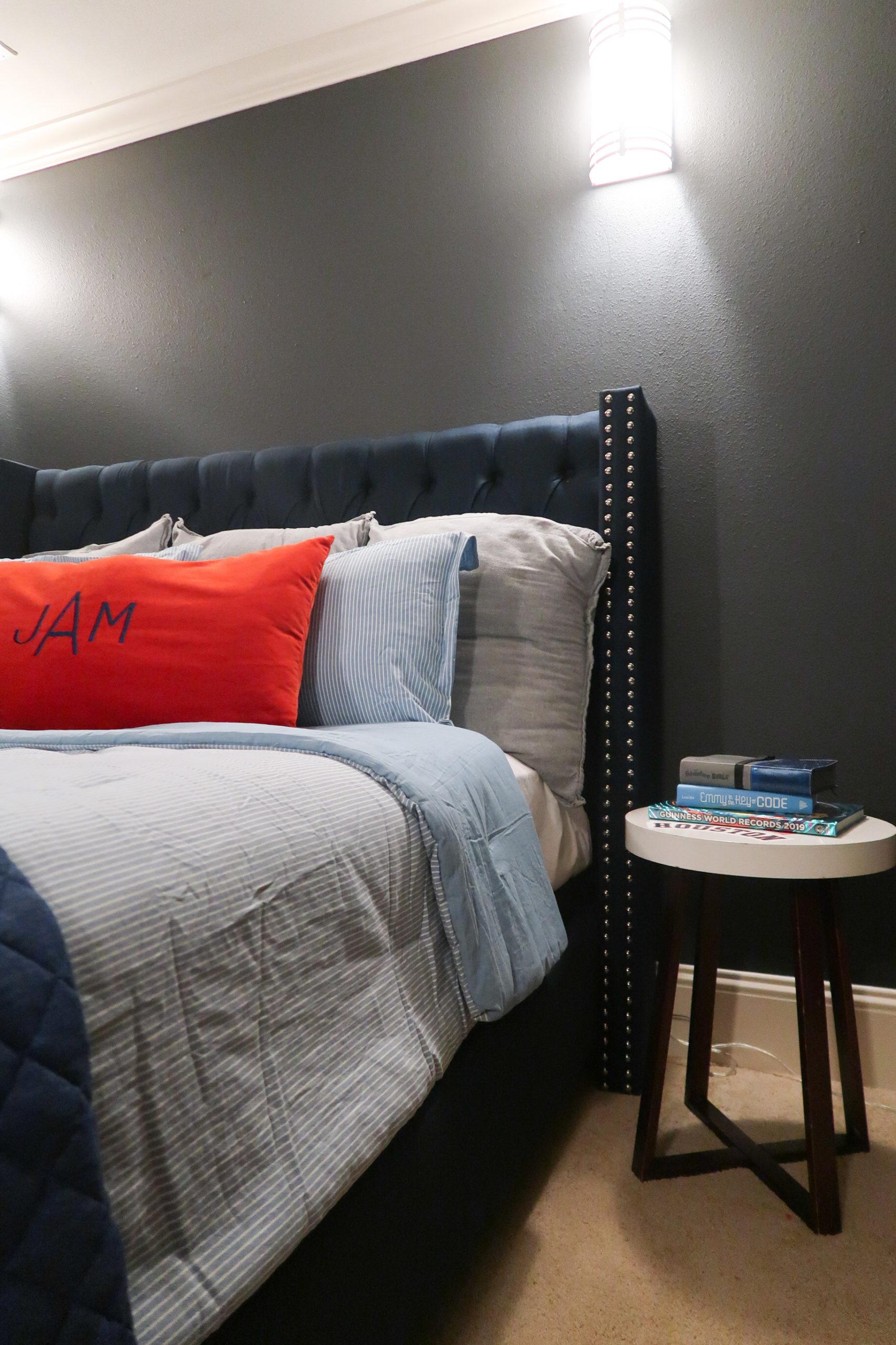 Tween Boys Room Upholstered Bed