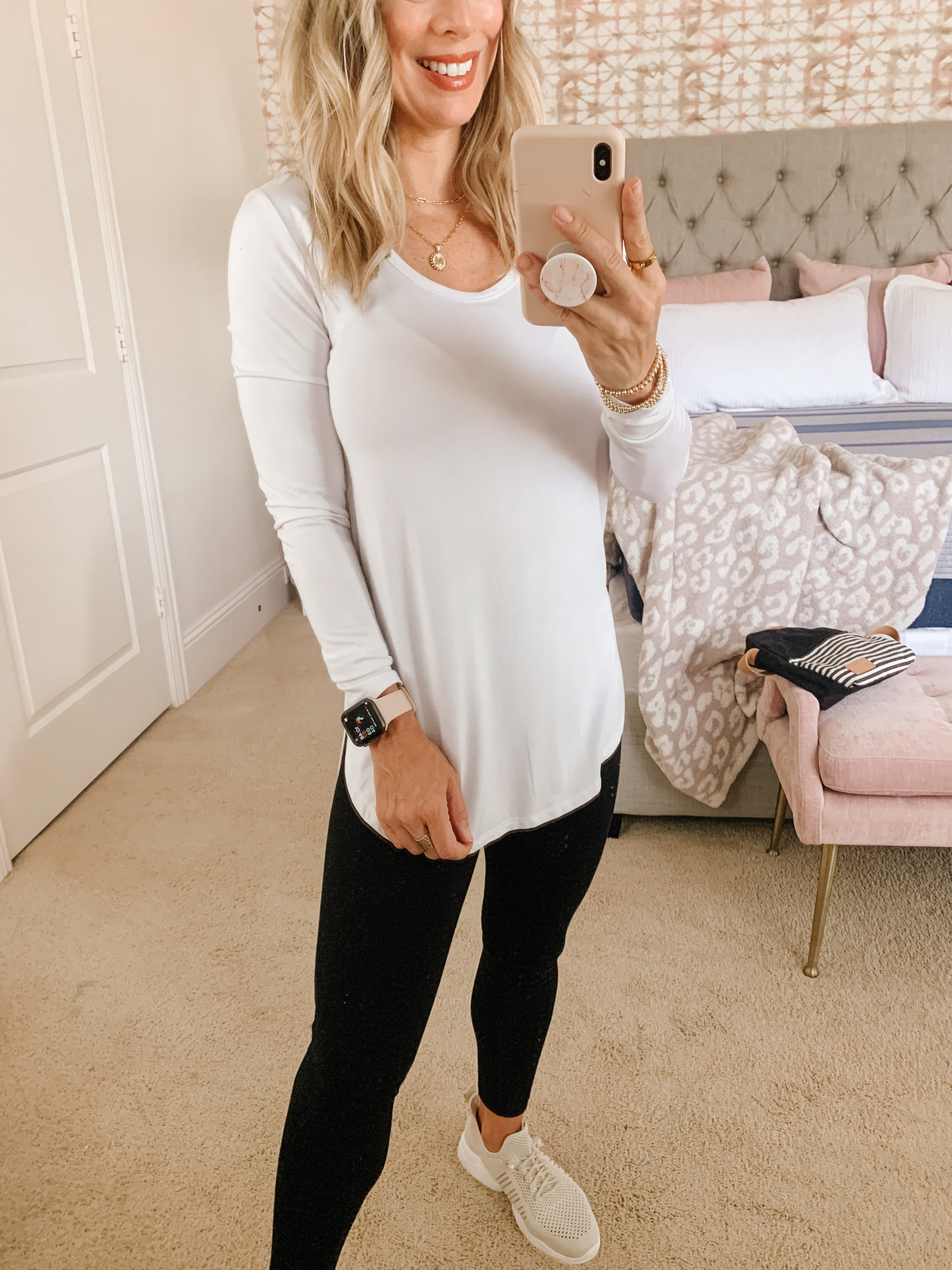 Amazon Fashion, Tunic Tee and Leggings with Slip on Sneakers