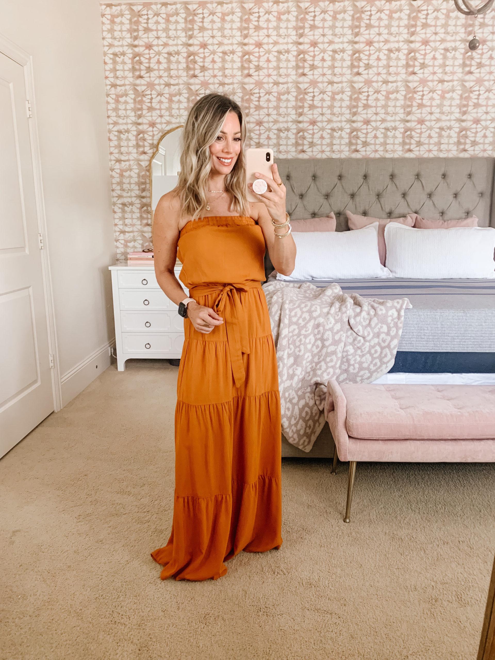 Amazon Fashion, Strapless Dress