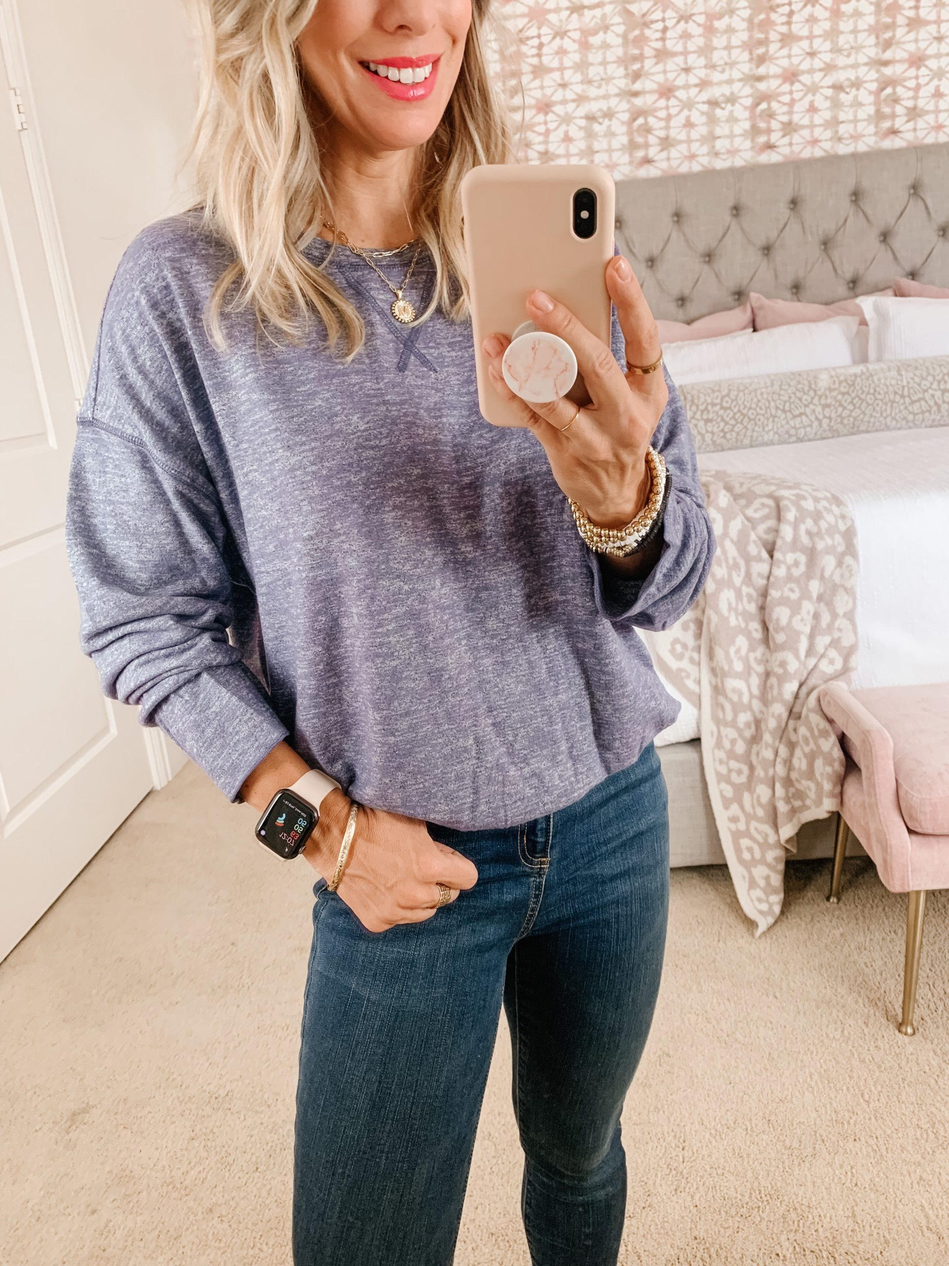 Amazon women's pullover and jeans