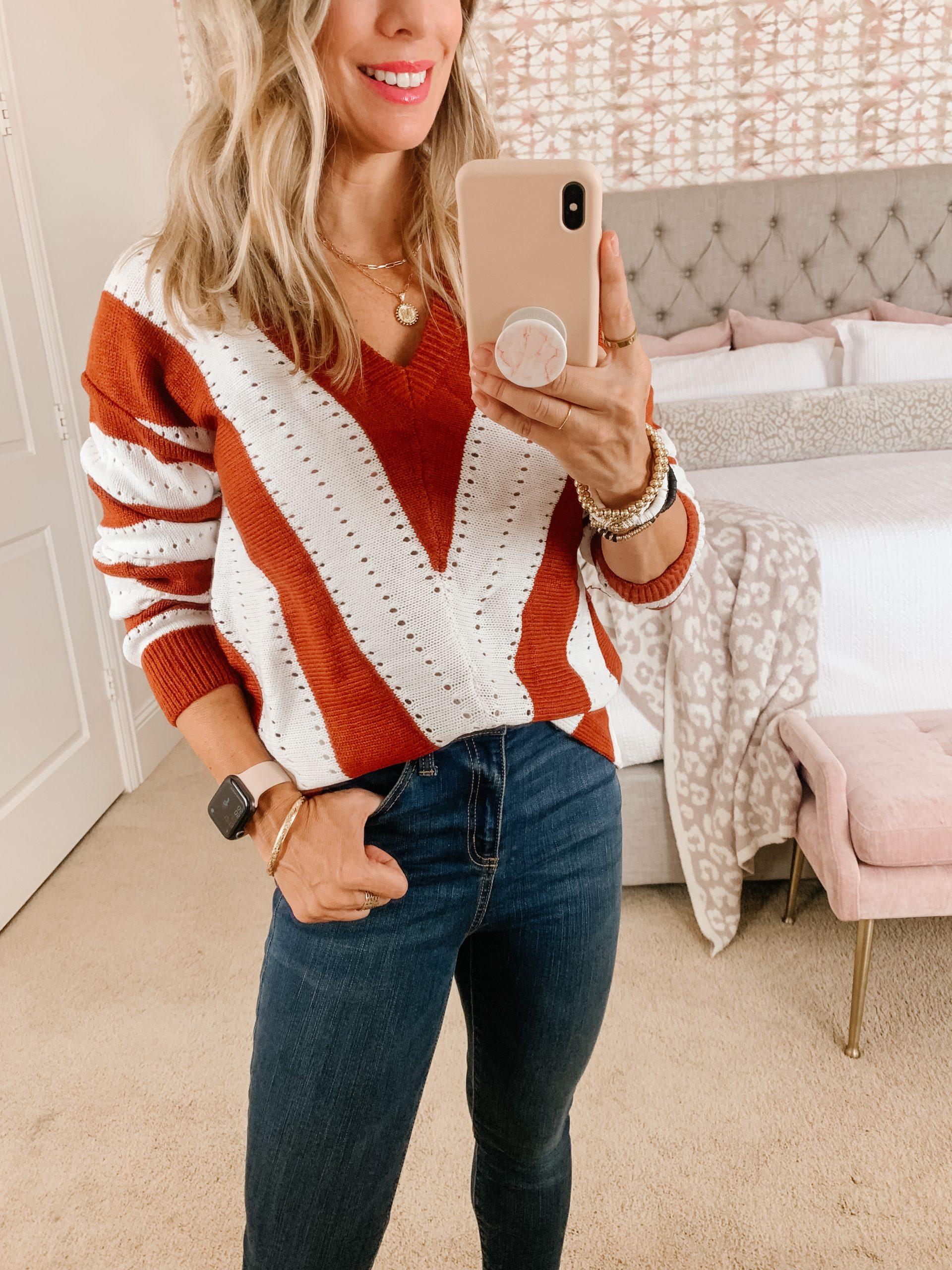 Amazon women's v-neck sweater