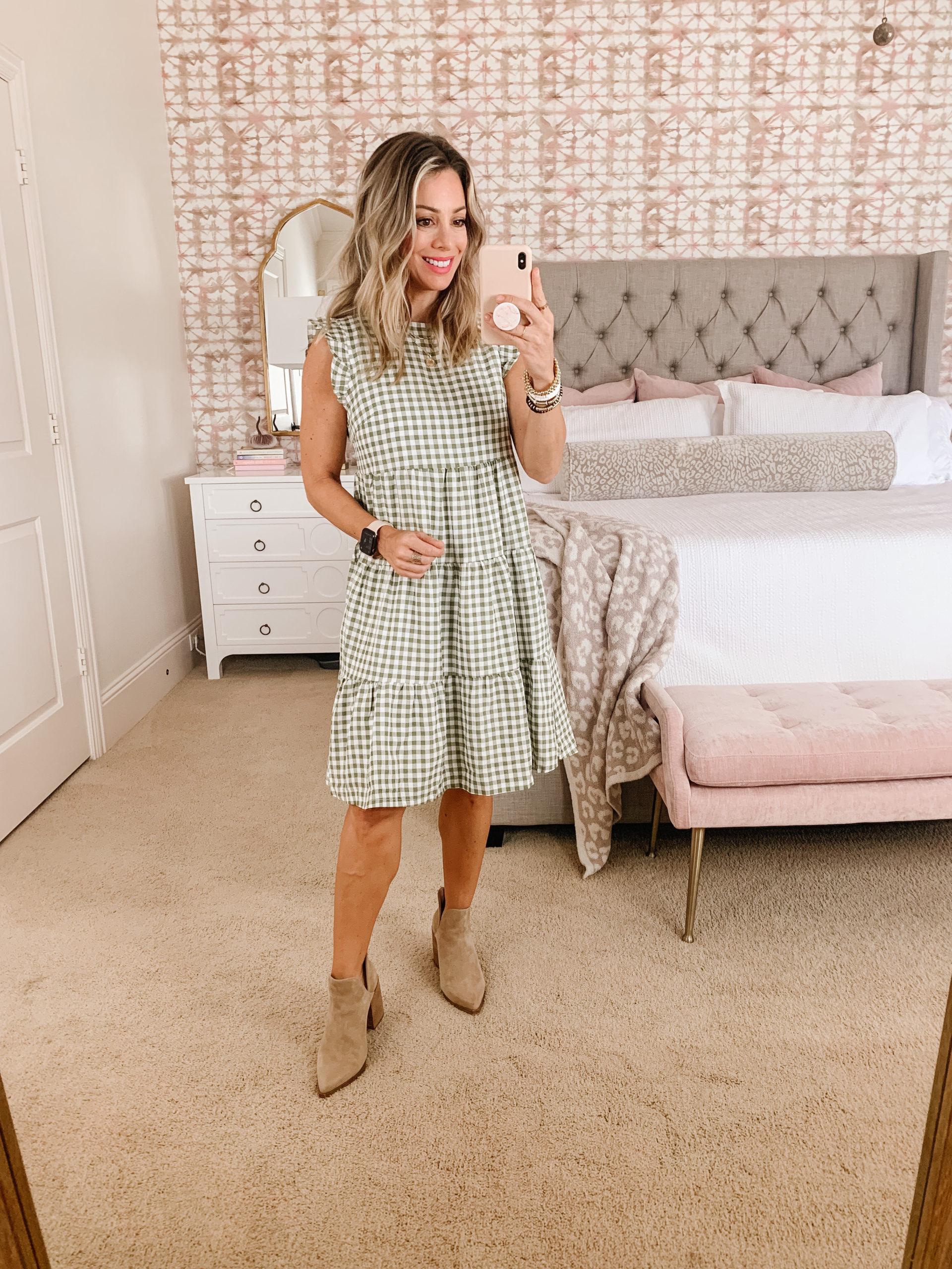 Amazon women's gingham dress
