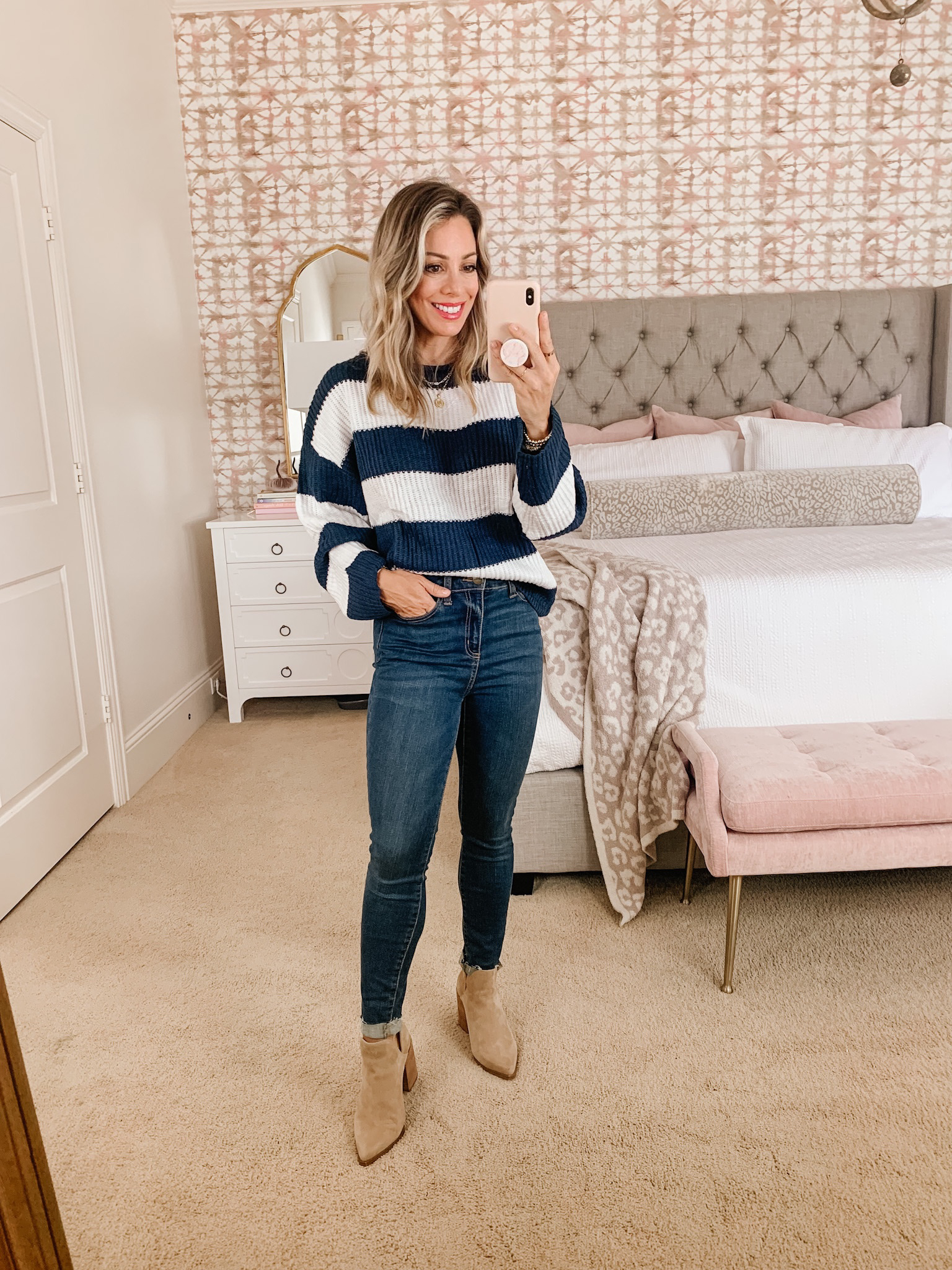 striped sweater and jeans Amazon